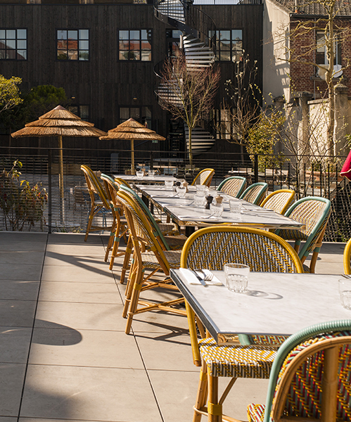 Hotel terrasse saint ouen