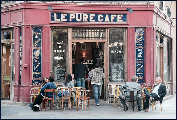 Cafe terrasse a paris