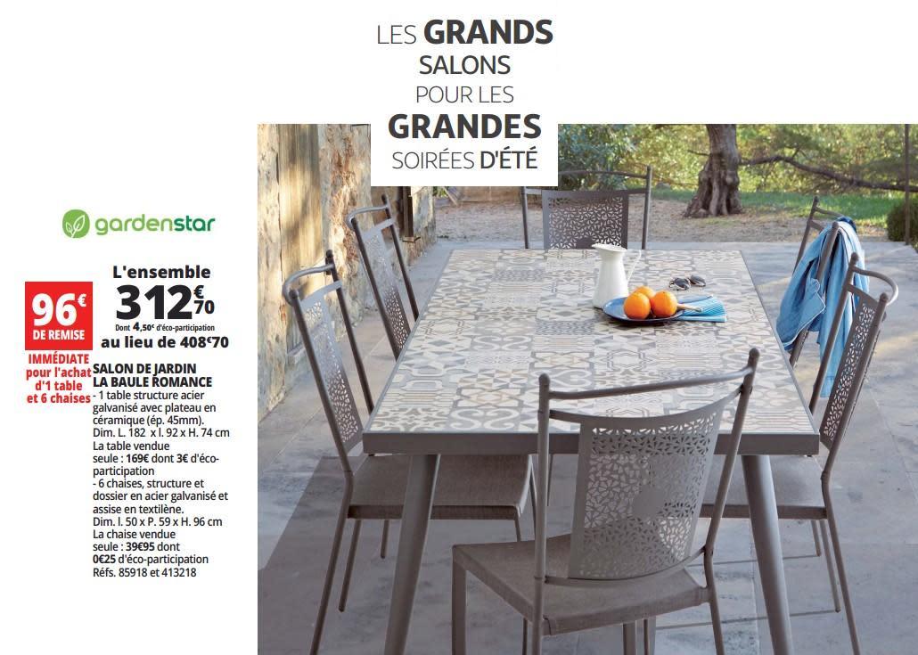 Salon de jardin garden star auchan - Mailleraye.fr jardin