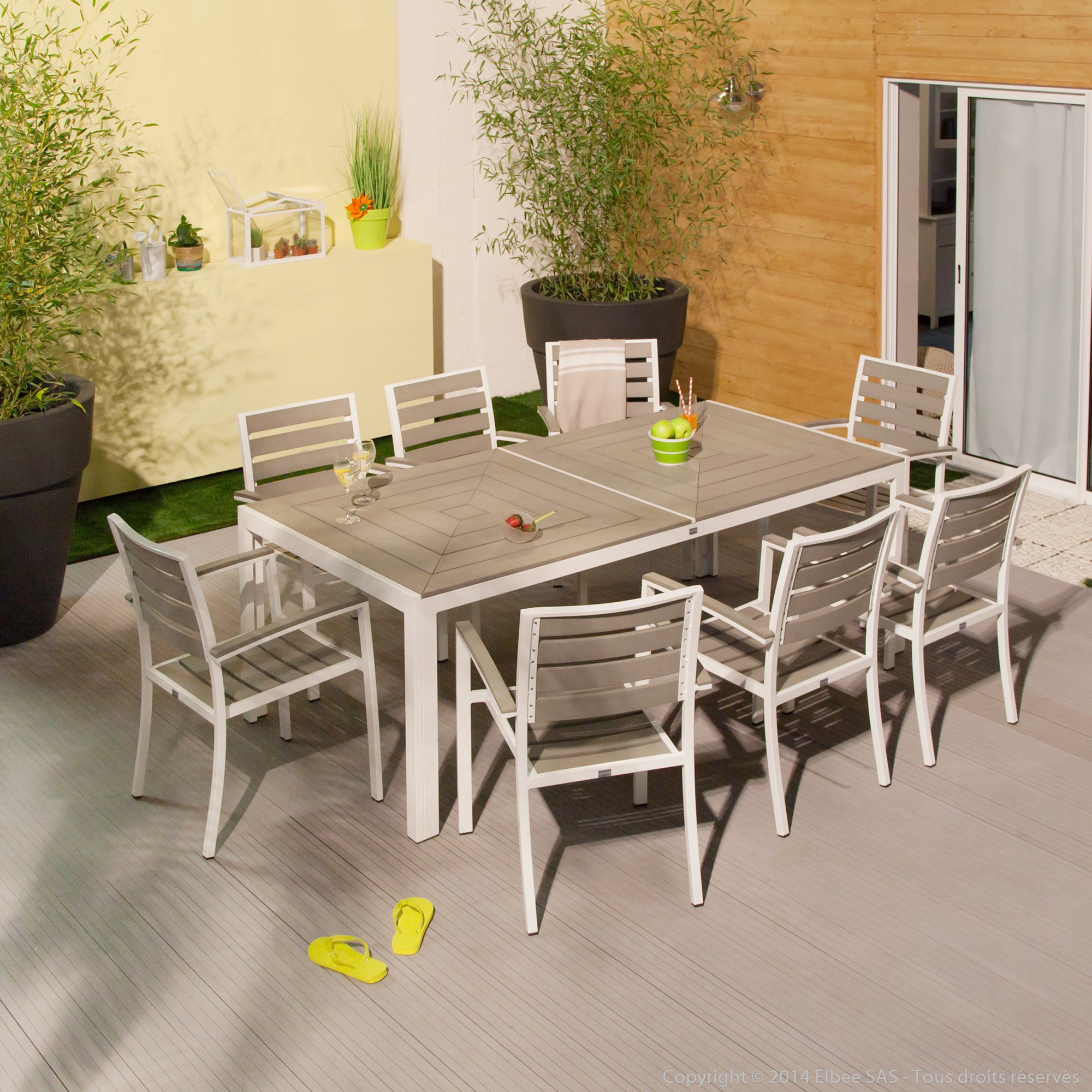 Salon de jardin ovale fidgi en acacia 4 chaises - Mailleraye.fr jardin