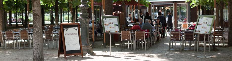 Café terrasse jardin des tuileries