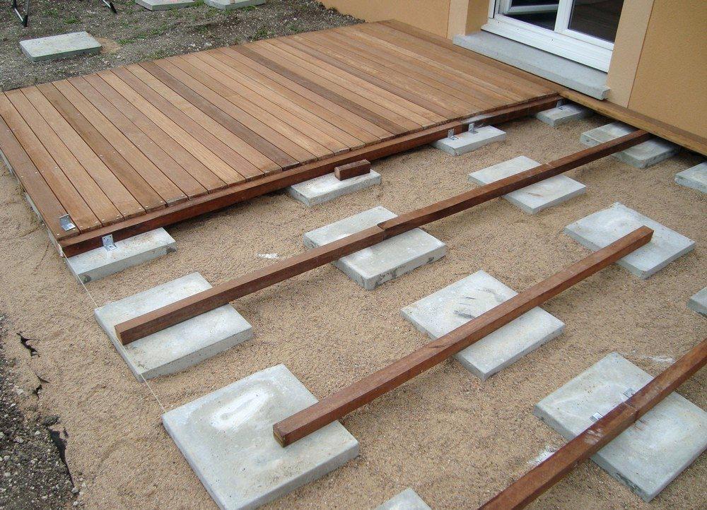 terrasse bois pas cher composite jardin