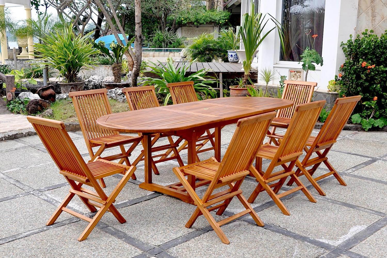 Salon de jardin table d\'extérieur extensible rectangle 180 ...