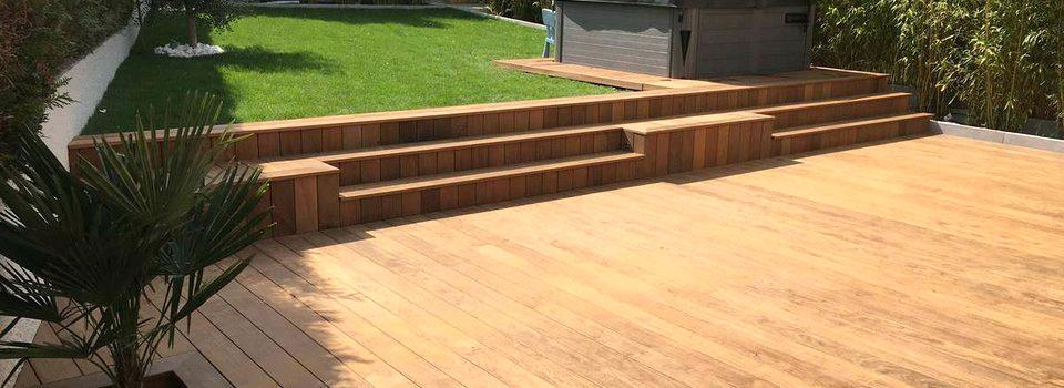Terrasse bois sur plot beton castorama