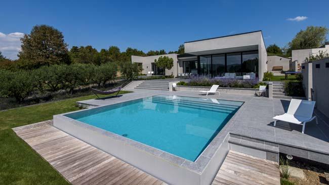 Terrasse Exterieur Avec Piscine Mailleraye Fr Jardin