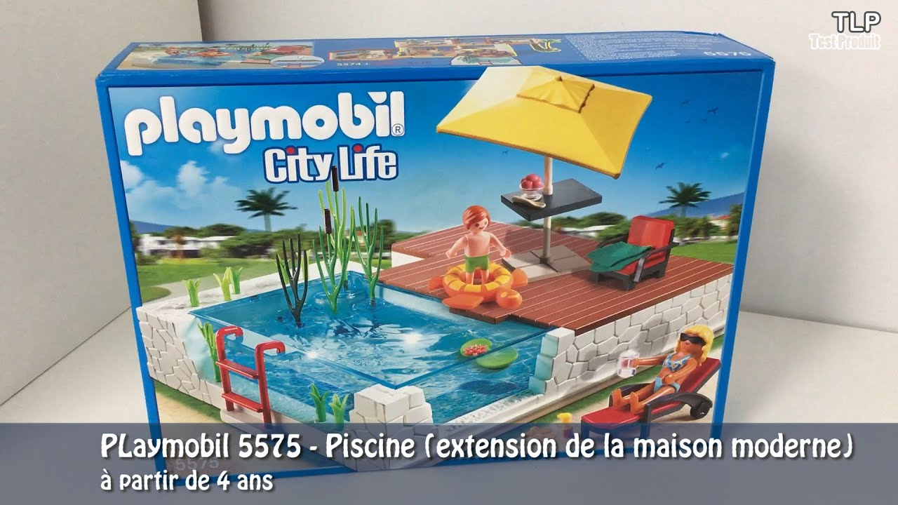 Terrasse avec piscine playmobil