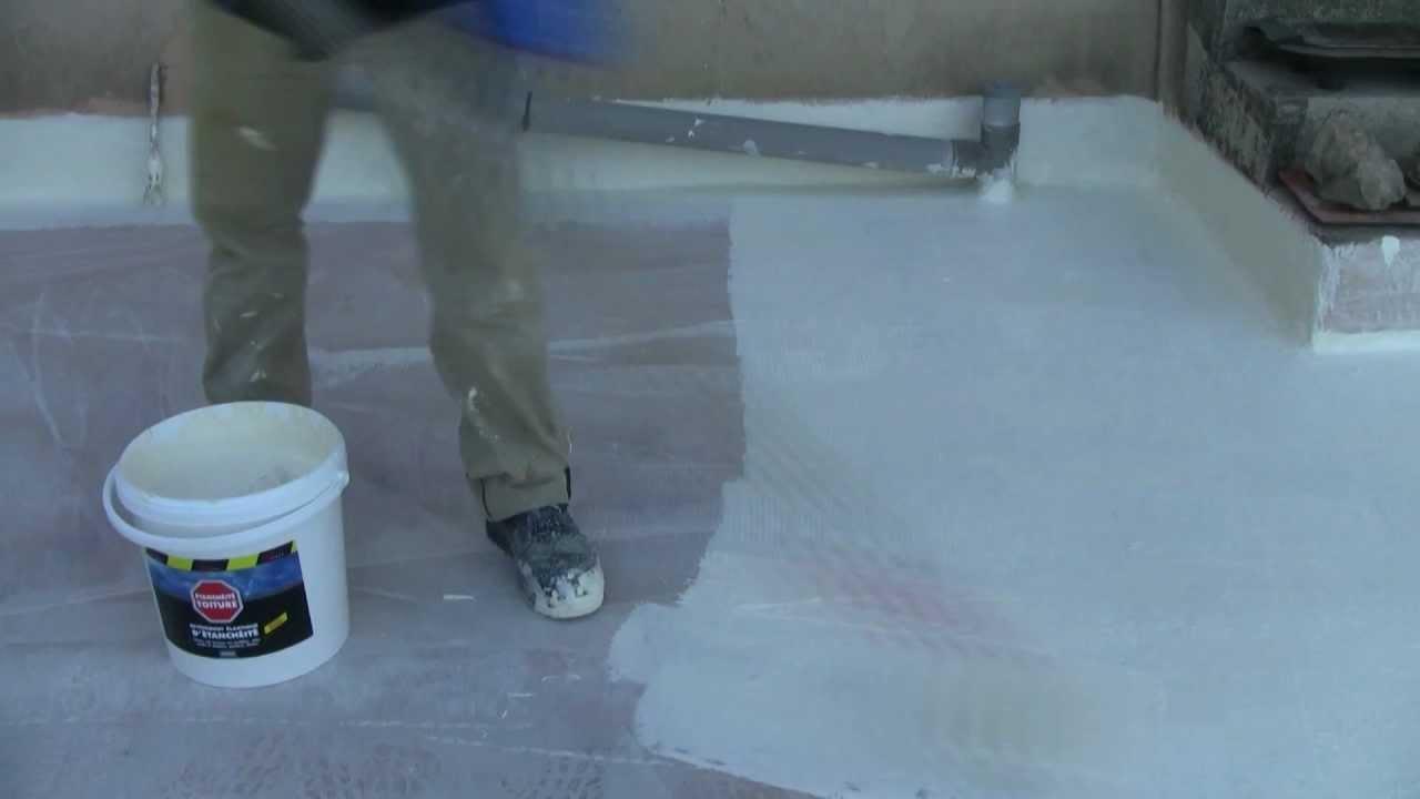 Terrasse beton qui fuit