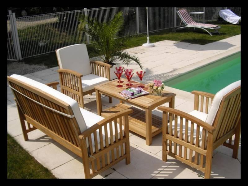 salon de jardin teck monsieur bricolage jardin. Black Bedroom Furniture Sets. Home Design Ideas