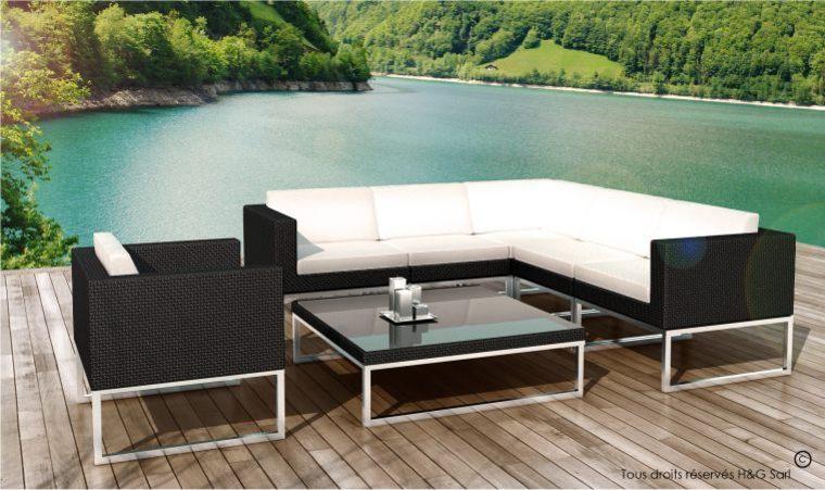 Salon de jardin en aluminium design - Mailleraye.fr jardin