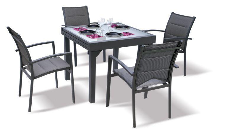Petit salon de jardin table ronde - Mailleraye.fr jardin