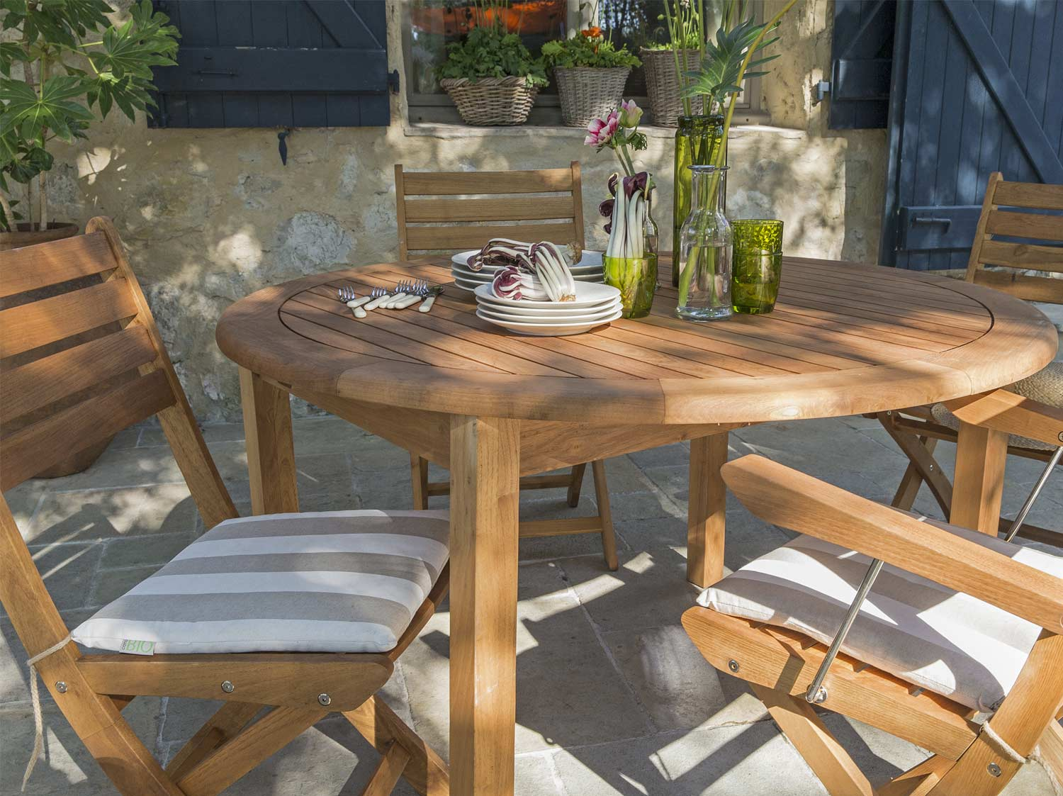 Table De Jardin Teck Leroy Merlin