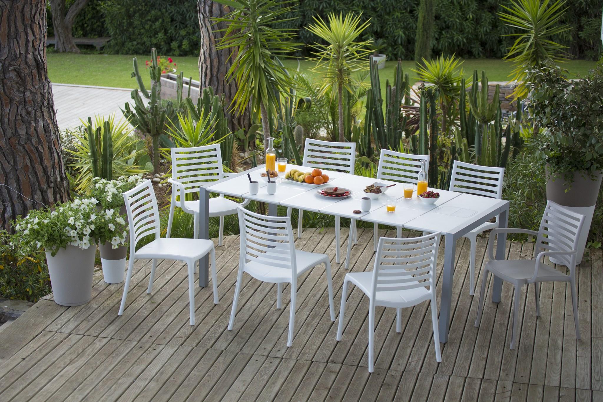 salon de jardin grosfillex sunday jardin. Black Bedroom Furniture Sets. Home Design Ideas