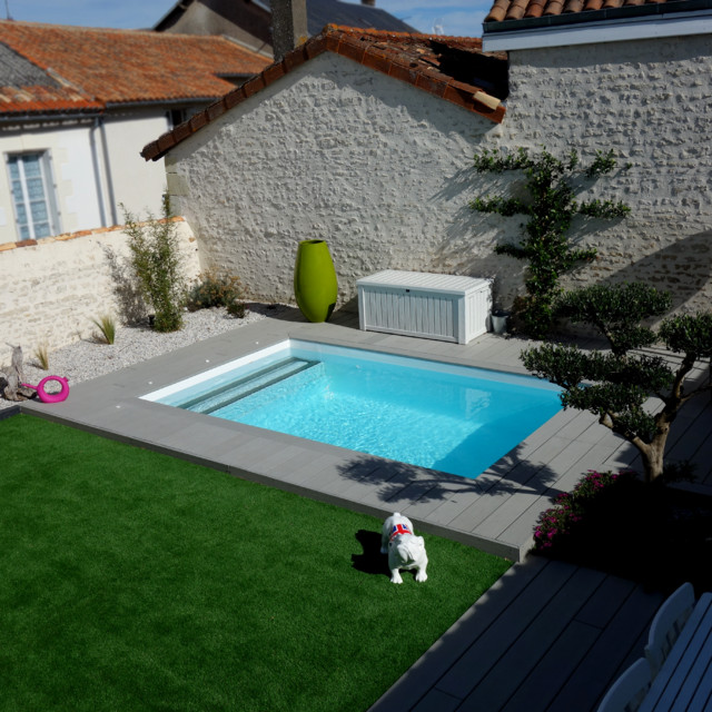 Modele terrasse avec piscine