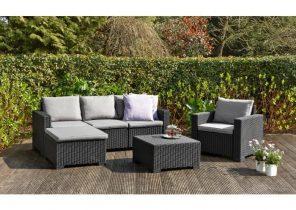 Terrasse bois composite et pierre bleue jardin - Mobilier jardin amazon boulogne billancourt ...