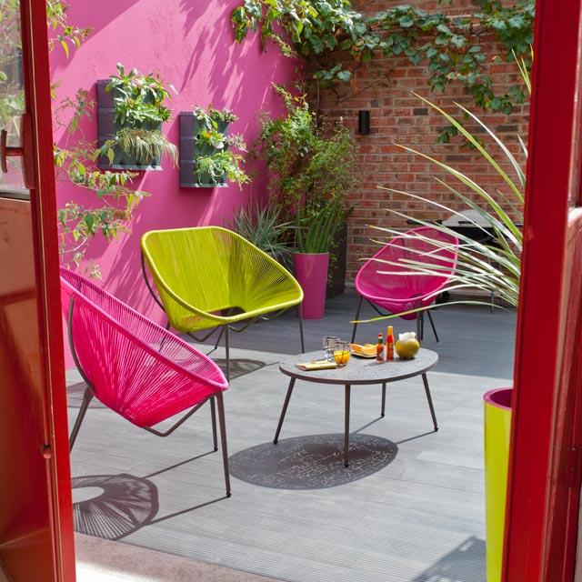 Salon de jardin en scoubidou - Mailleraye.fr jardin