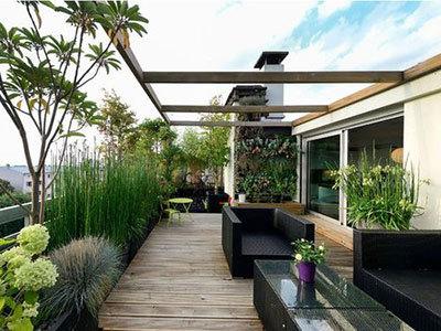 Terrasse balcon aménagé