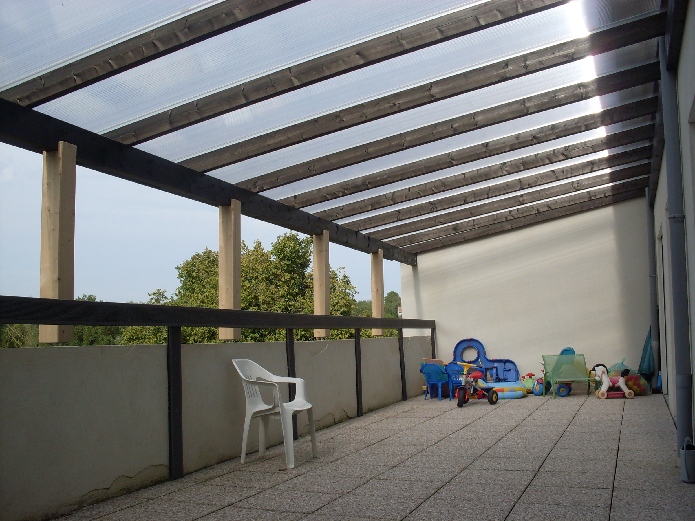 Terrasse couverte image - Mailleraye.fr jardin