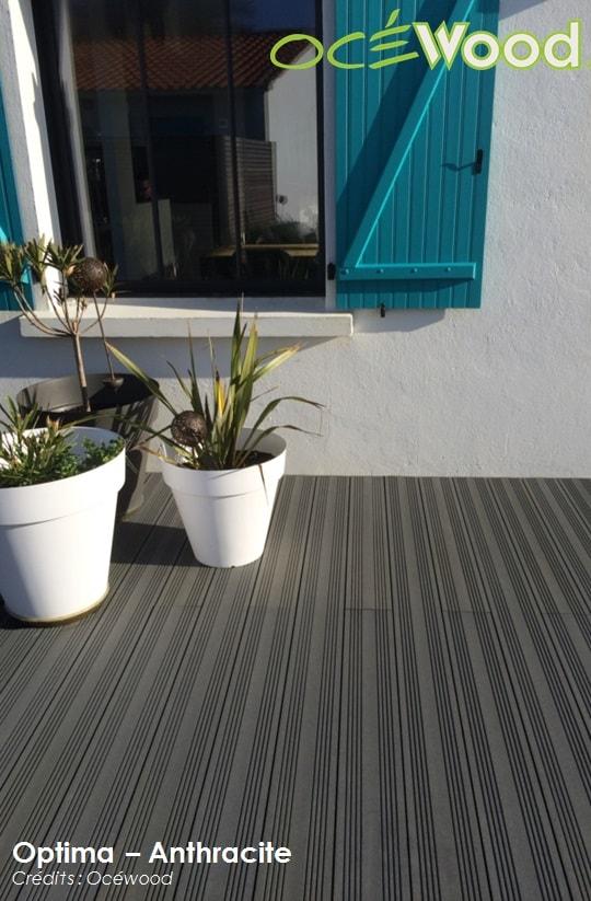 Terrasse composite anthracite