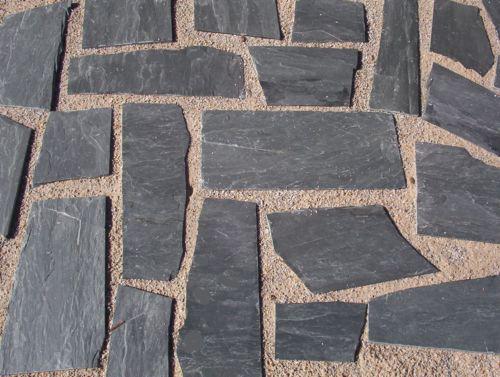 Terrasse en pierre d'ardoise