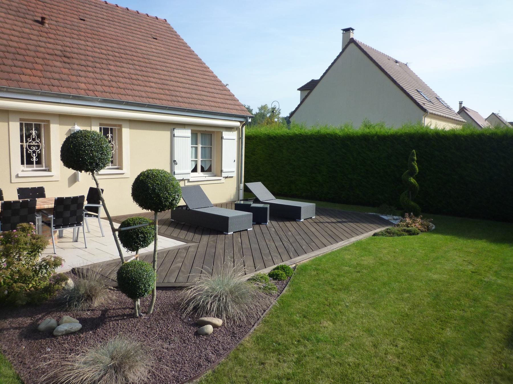 Terrasse jardin fontainebleau