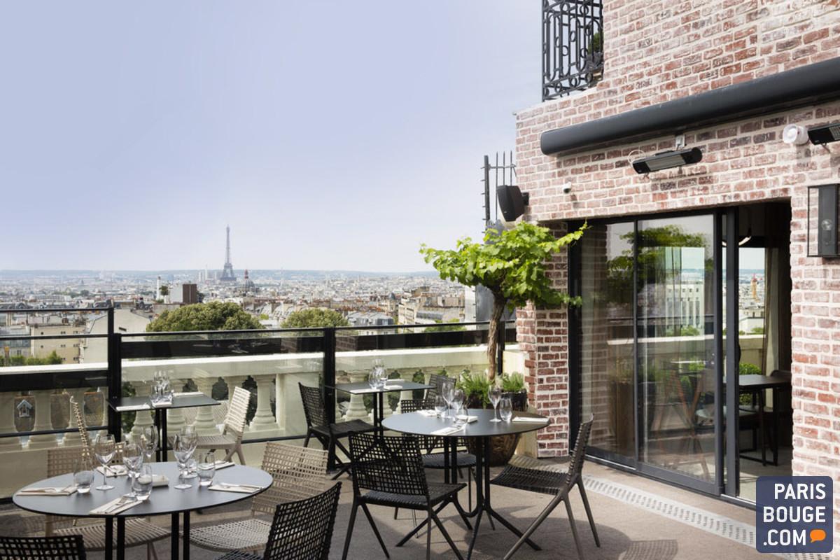Bar terrasse en hauteur paris