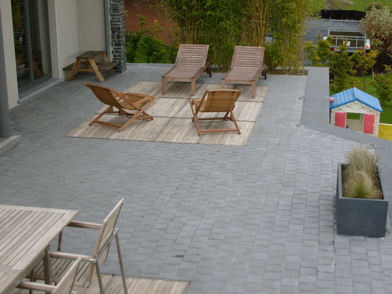Terrasse beton ou pave