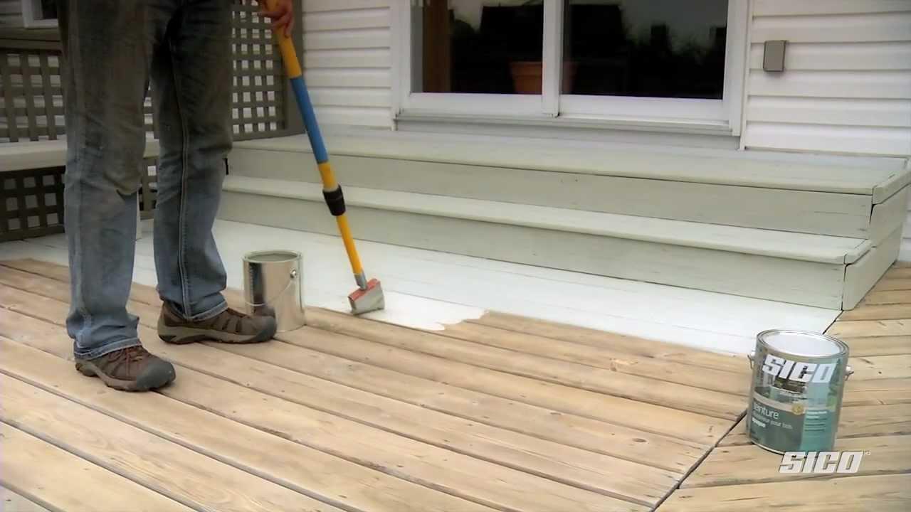 Peindre une terrasse en bois exotique