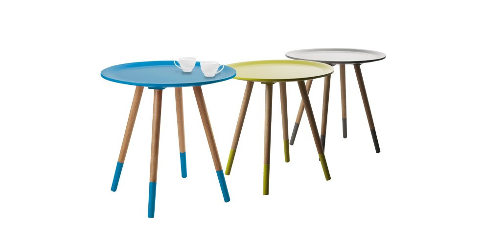 Table basse ronde salon de jardin