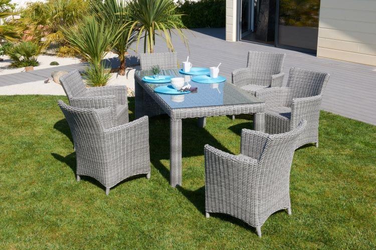 Table salon de jardin resine pas cher - Mailleraye.fr jardin