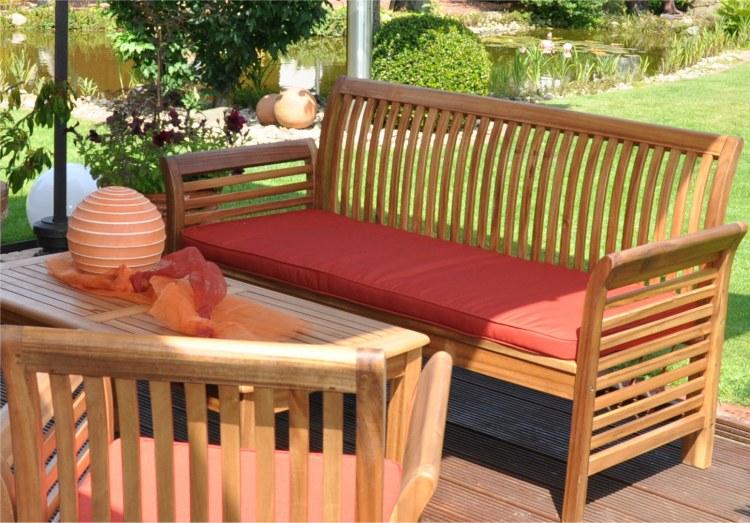 Salon de jardin en bois teck - Mailleraye.fr jardin