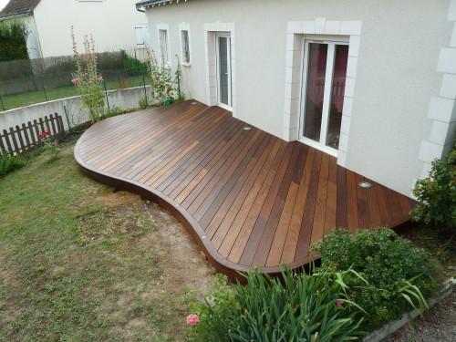 Terrasse arrondie bois