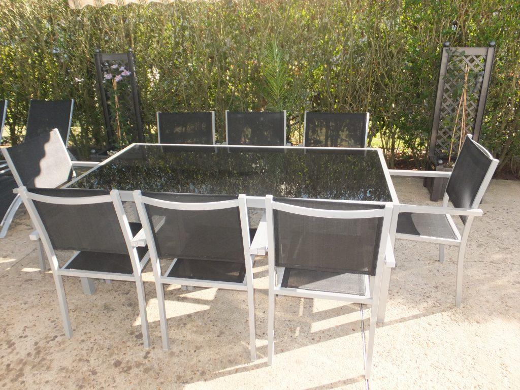 Salon en de 150 table capua jardin Mailleraye aluminium cm CsdothxBQr