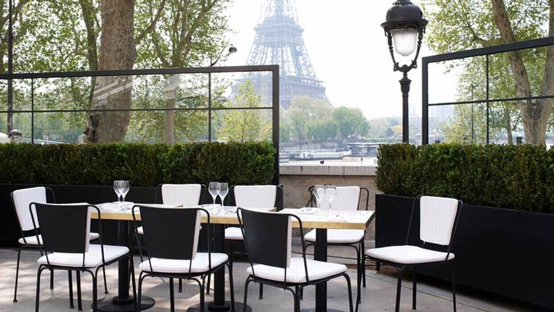 Restaurant gastronomique paris avec terrasse