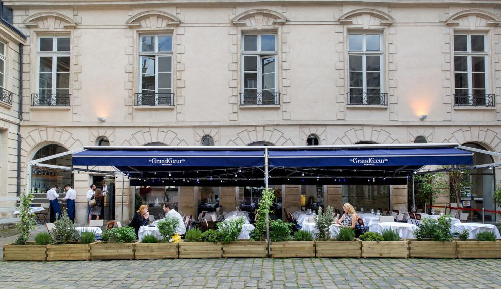 Restaurant terrasse paris au calme