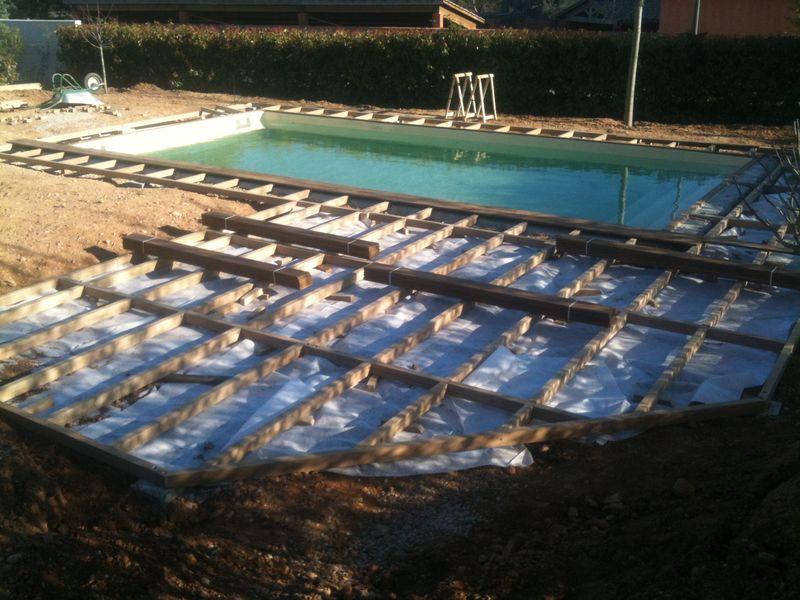 Terrasse bois piscine margelle