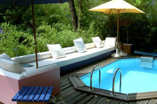 Terrasse avec piscine paris
