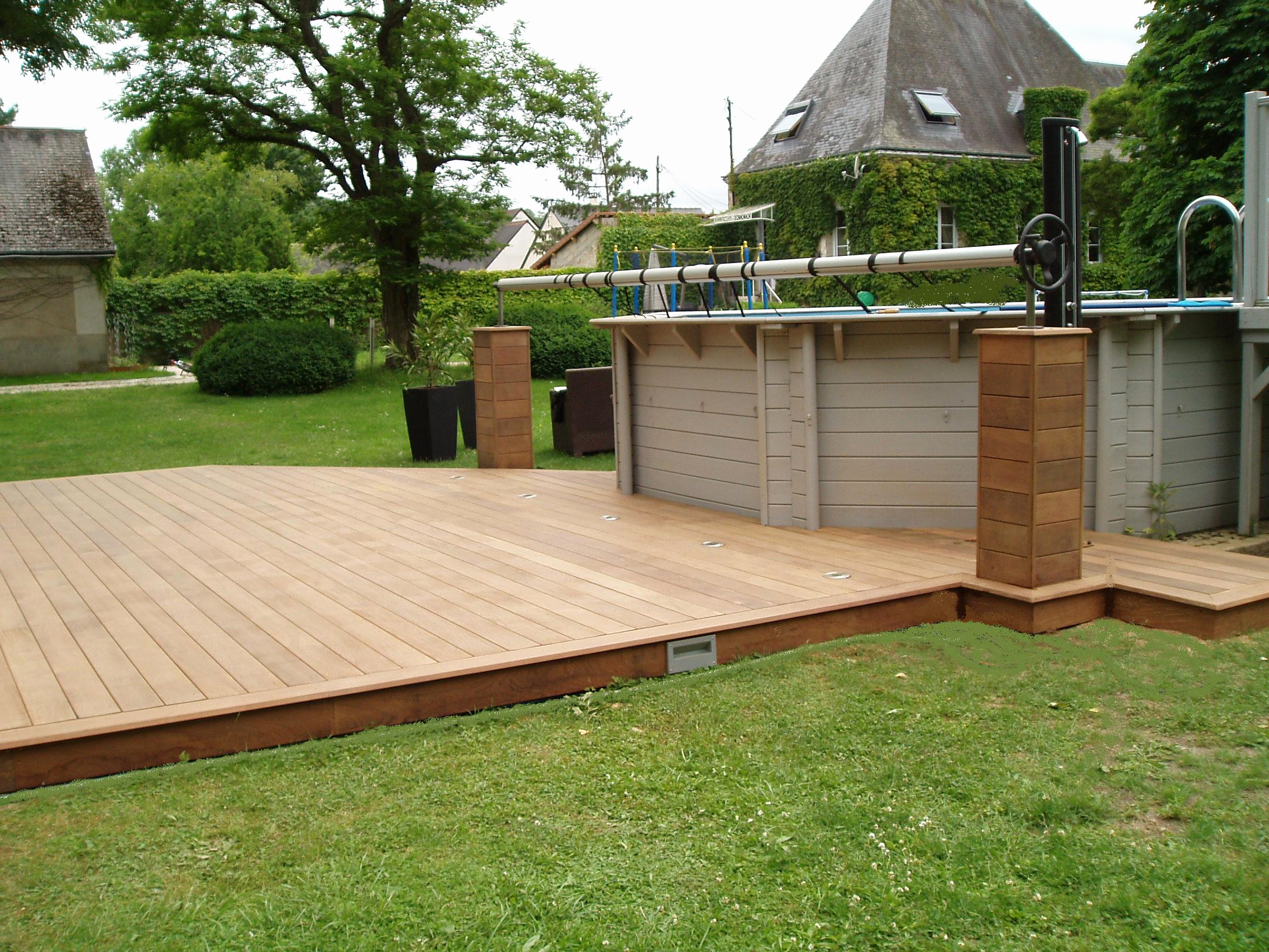 Amenagement terrasse bois piscine hors sol