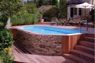 Terrasse avec piscine hors sol