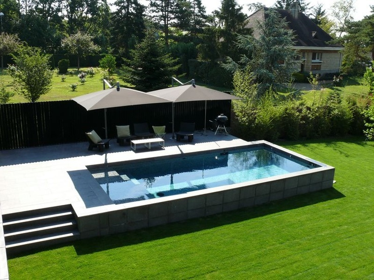 Terrasse Surelevee Avec Piscine Mailleraye Fr Jardin