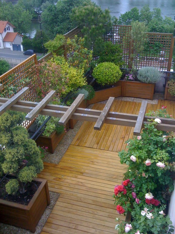Amenagement terrasse caillebotis
