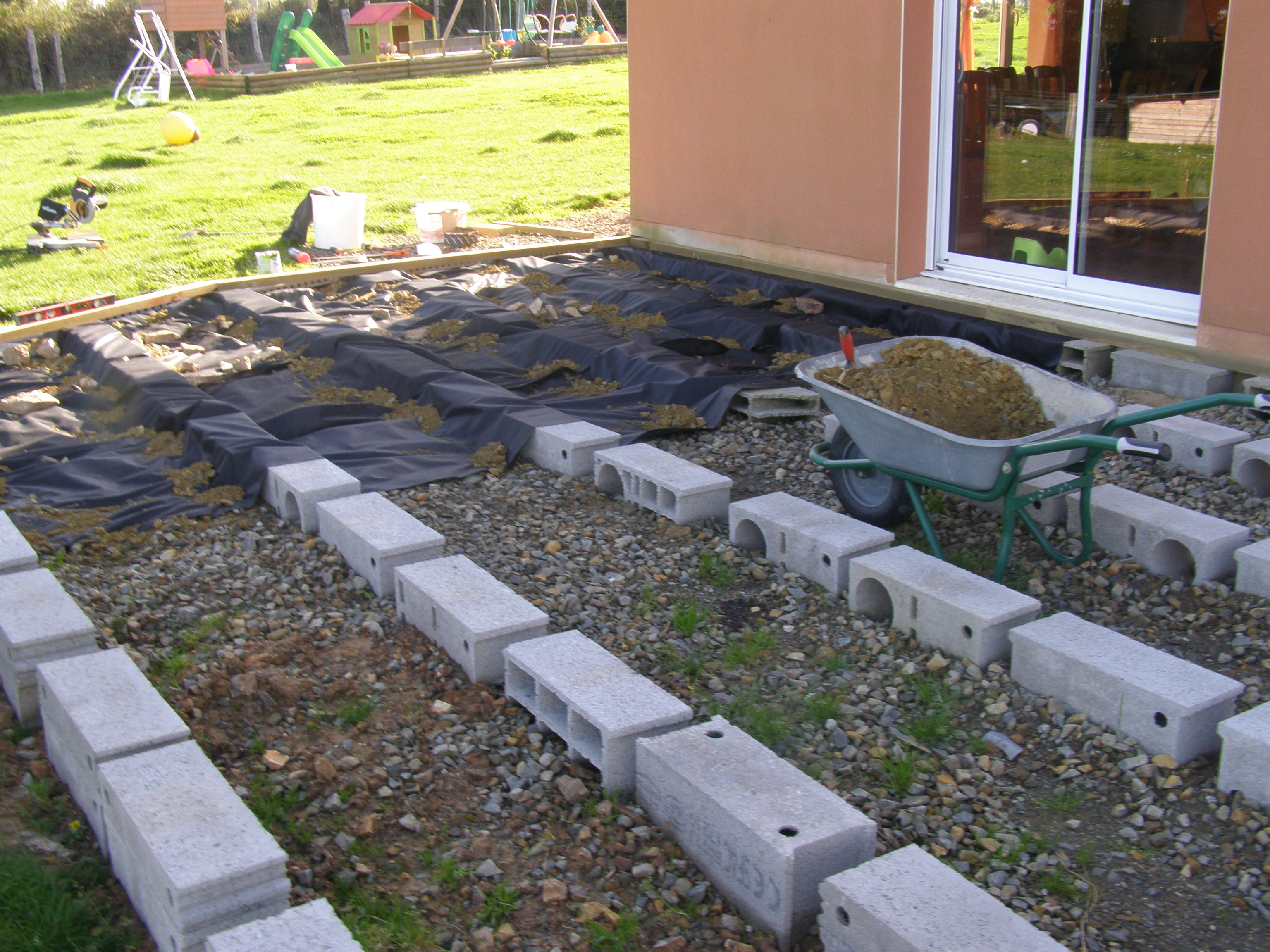 Kit terrasse composite sur plot