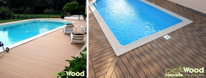 Pose terrasse bois tour de piscine
