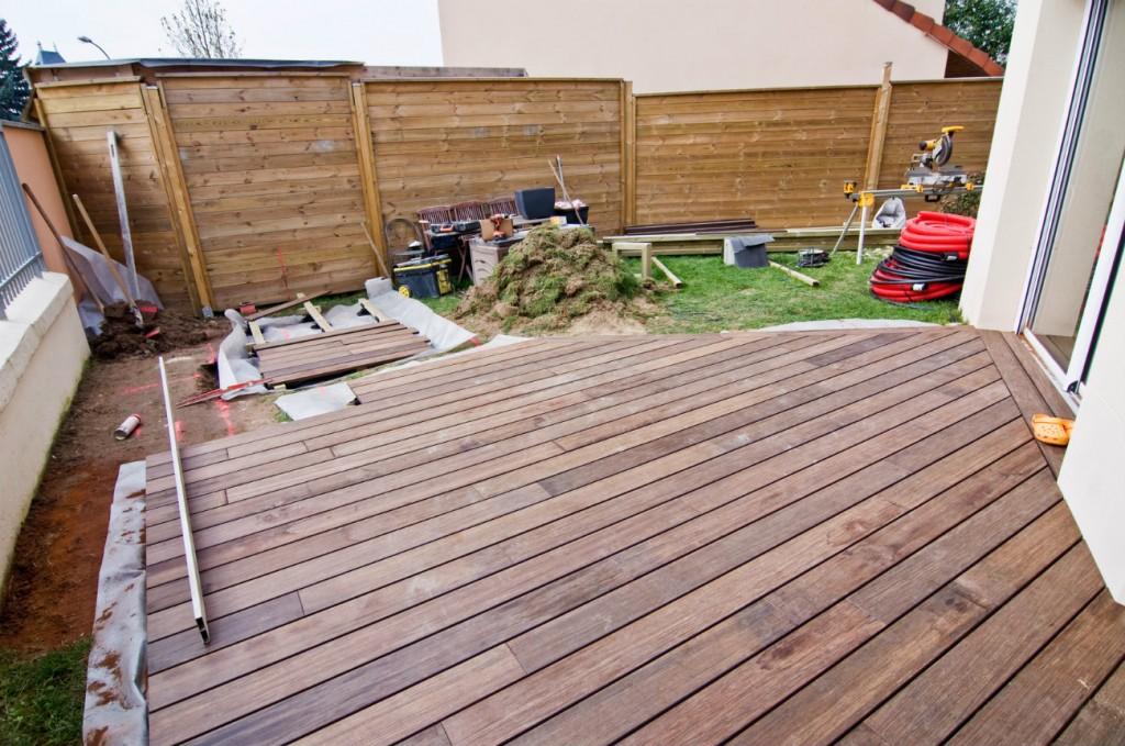 Terrasse bois niveau sol