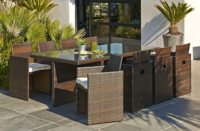 Table de salon de jardin mr bricolage - Mailleraye.fr jardin