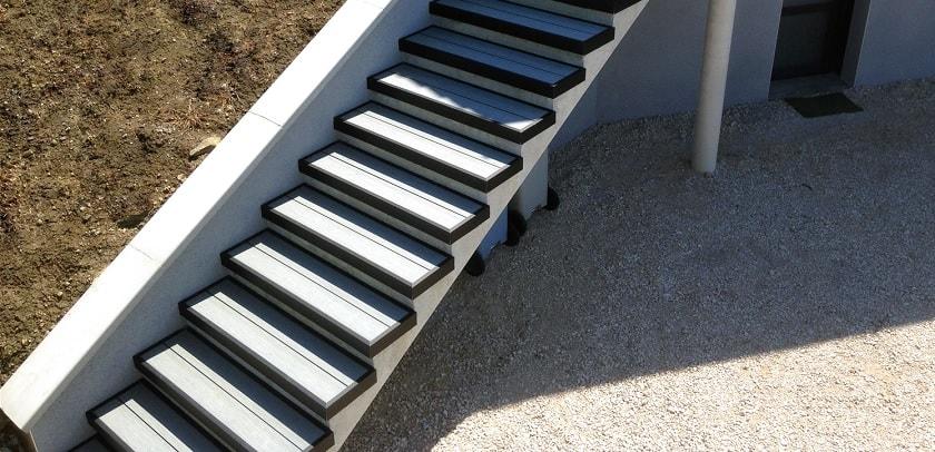 Terrasse bois composite escalier