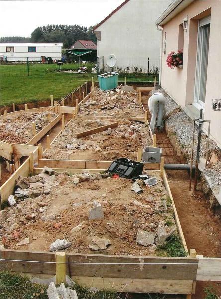 Dalle terrasse beton occasion