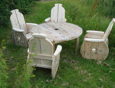 Salon de jardin avec des tourets - Mailleraye.fr jardin