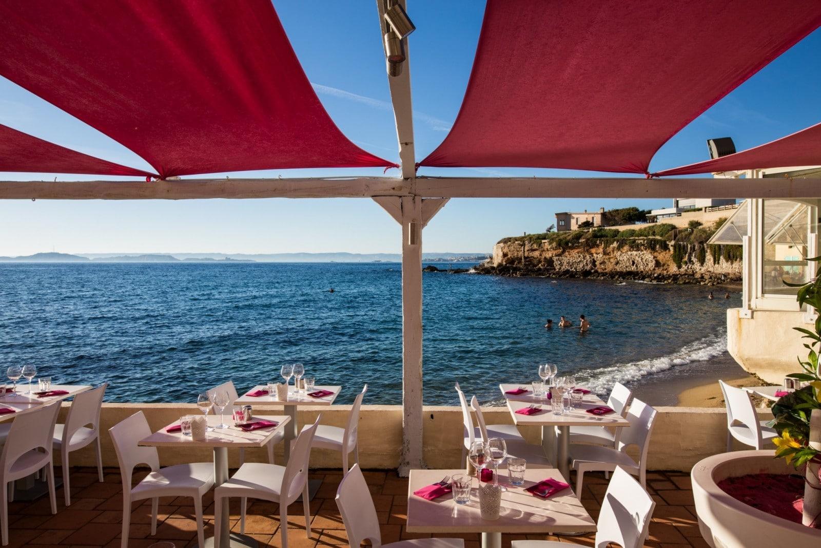 Restaurant avec terrasse vue mer marseille