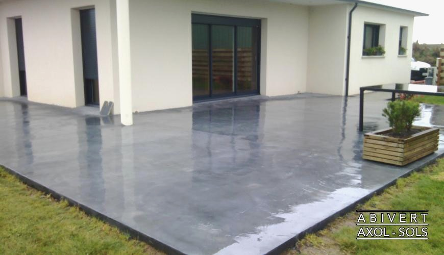 Terrasse beton recouvrir