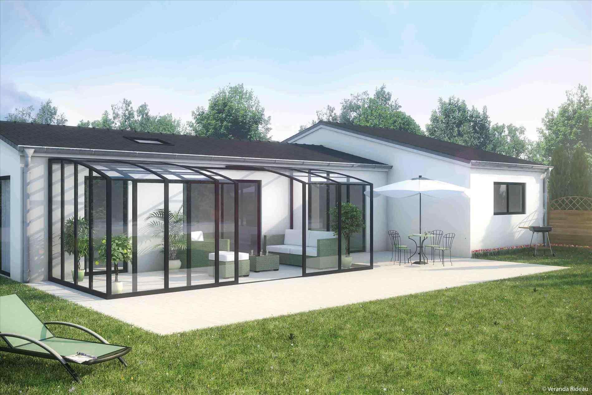 Terrasse couverte ou veranda